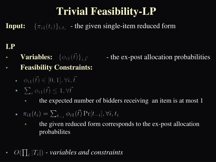 Trivial Feasibility-LP