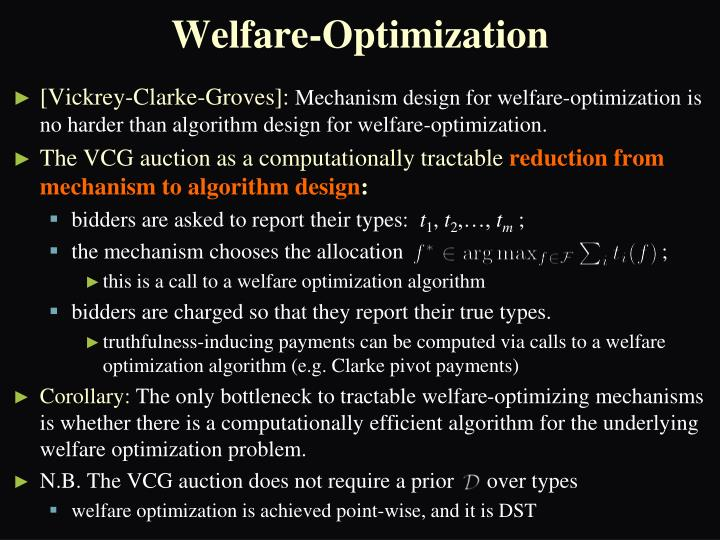 Welfare-Optimization