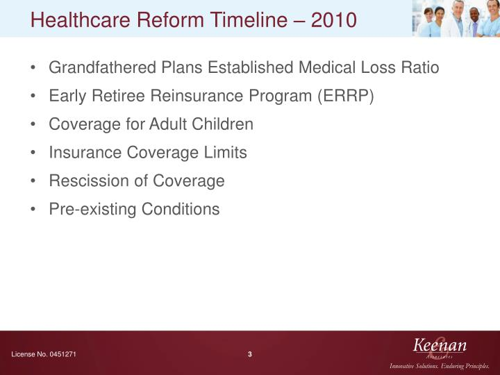Healthcare reform timeline 2010