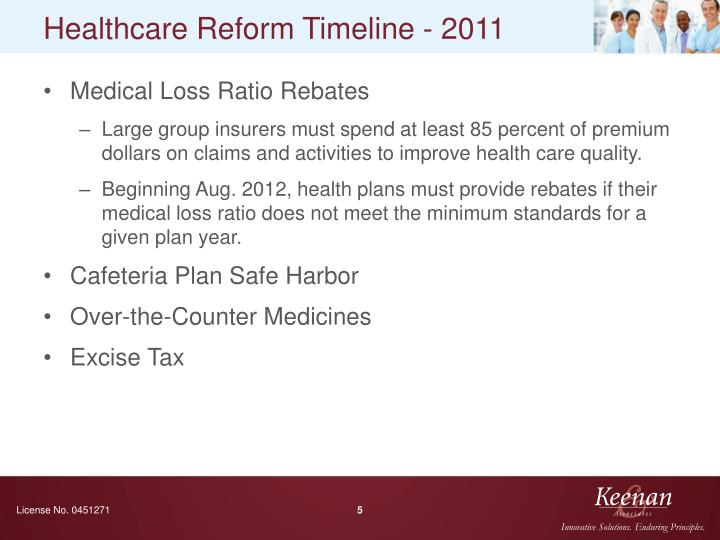 Healthcare Reform Timeline - 2011
