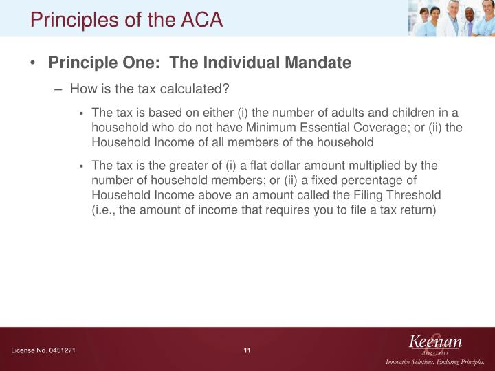 Principles of the ACA