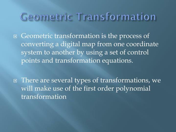 Geometric Transformation