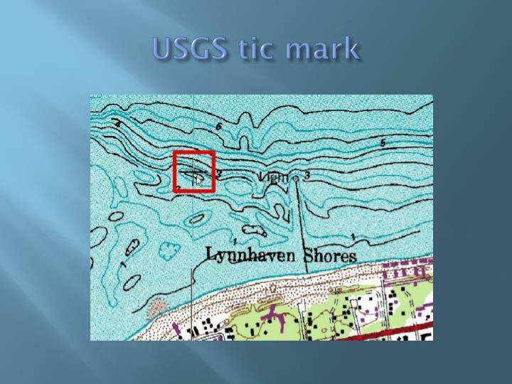 USGS tic mark