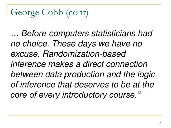 George Cobb (cont)
