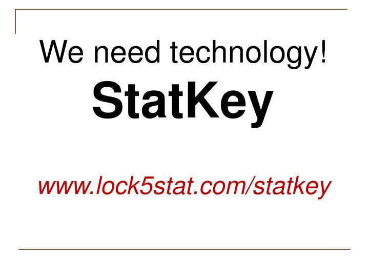We need technology!