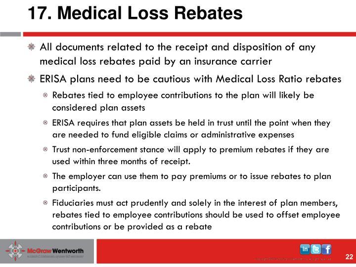 17. Medical Loss Rebates