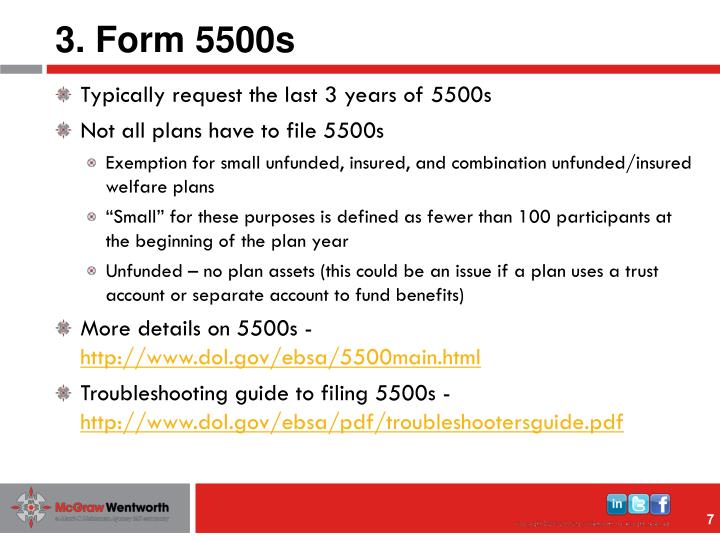 3. Form 5500s