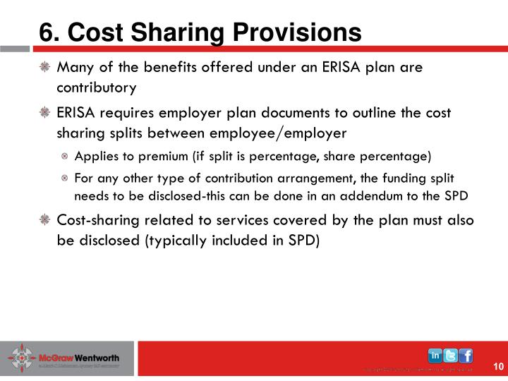 6. Cost Sharing Provisions