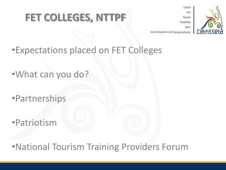 FET COLLEGES, NTTPF