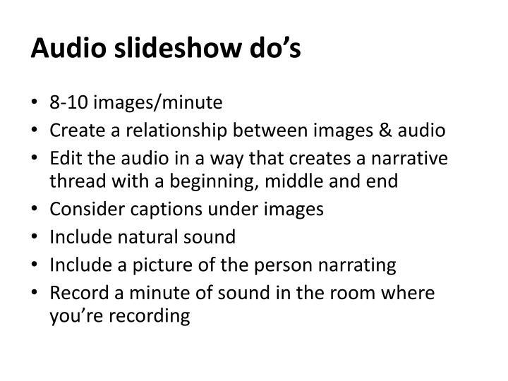 Audio slideshow
