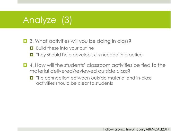 Analyze  (3)