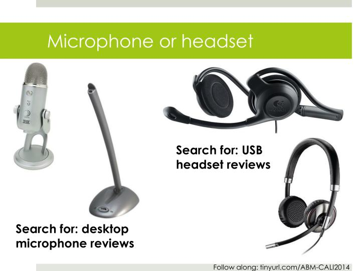 Microphone or headset