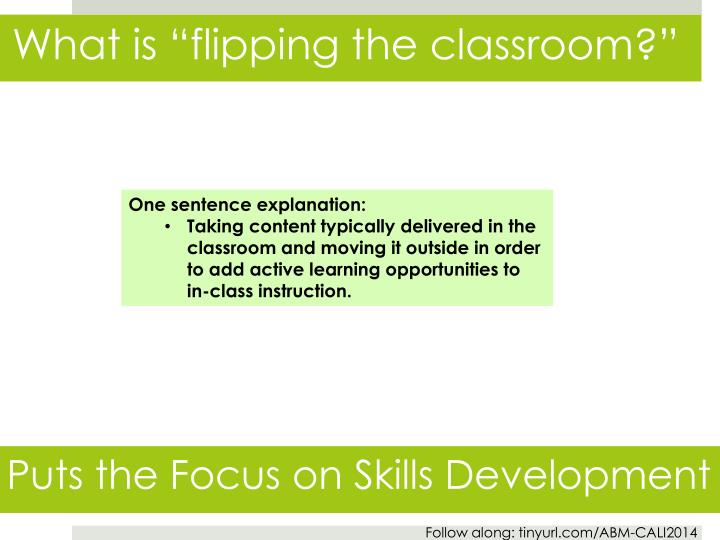"What is ""flipping the classroom?"""