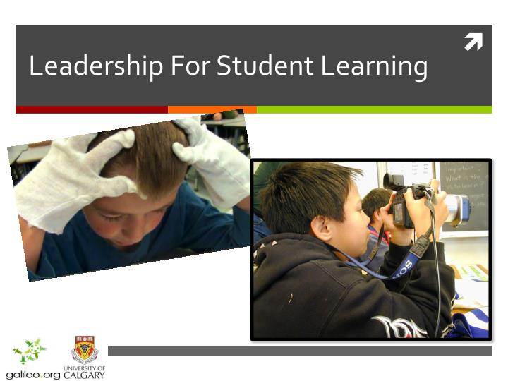 Leadership for student learning