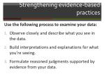 strengthening evidence based practices