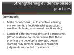 strengthening evidence based practices1