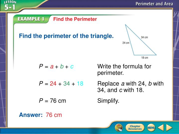 Find the perimeter of the triangle.