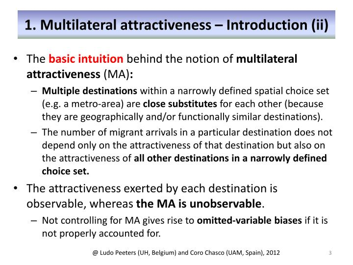 1. Multilateral attractiveness – Introduction (ii)