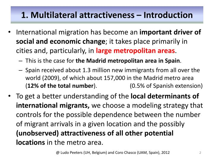 1. Multilateral attractiveness – Introduction