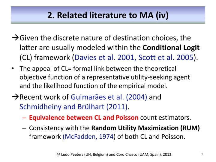 2. Related literature to MA (iv)