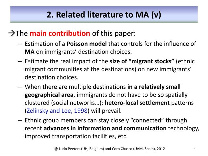2. Related literature to MA (v)