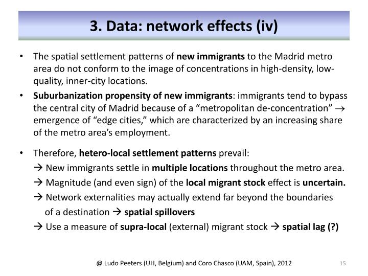 3. Data: network effects (iv)