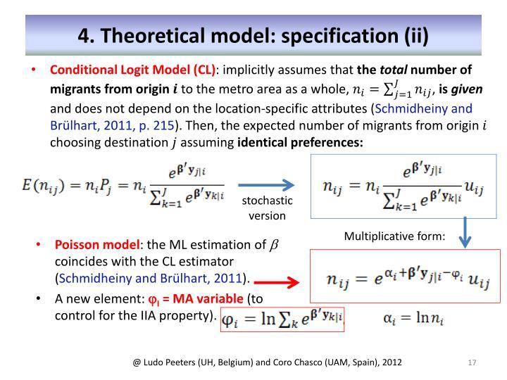 4. Theoretical model: specification (ii)
