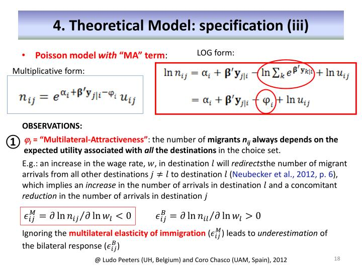4. Theoretical Model: specification (iii)
