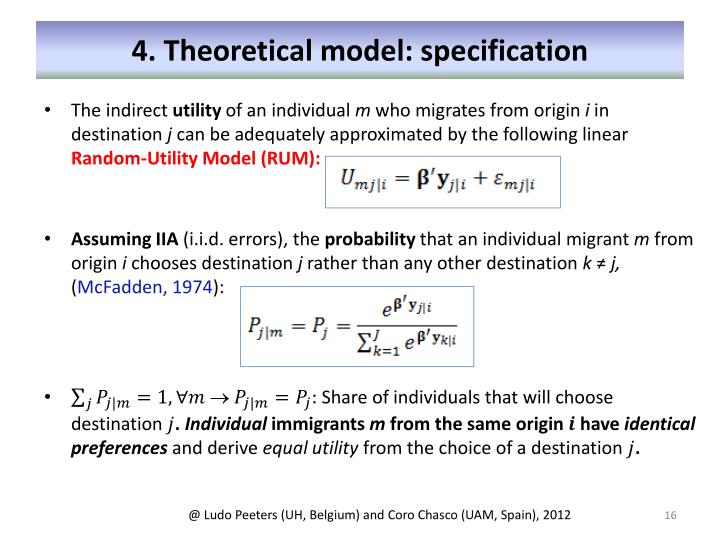 4. Theoretical model: specification