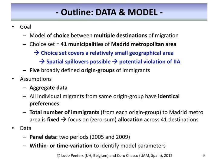 - Outline: DATA & MODEL -