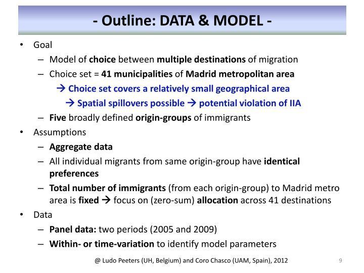 - Outline: DATA & MODEL -