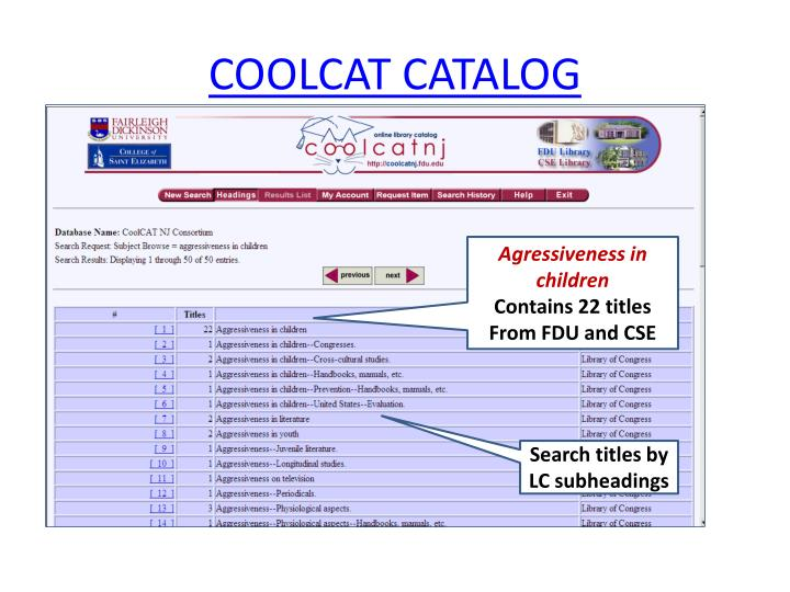 COOLCAT CATALOG