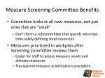 measure screening committee benefits1