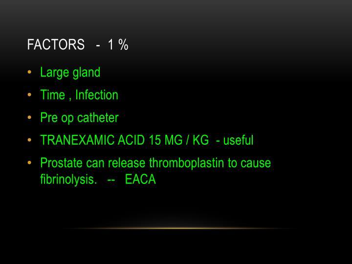 Factors   -  1 %