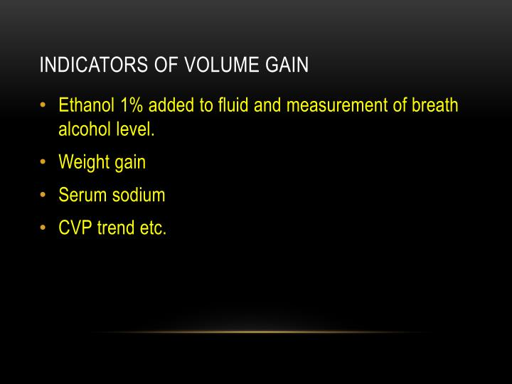 Indicators of volume gain