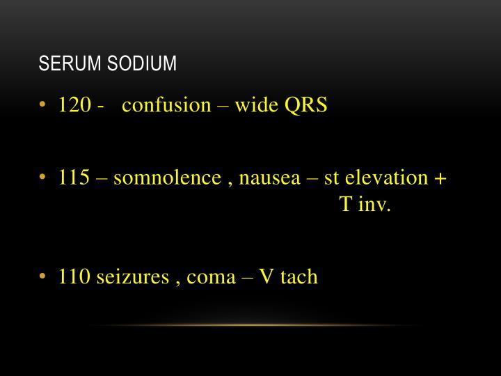 Serum sodium