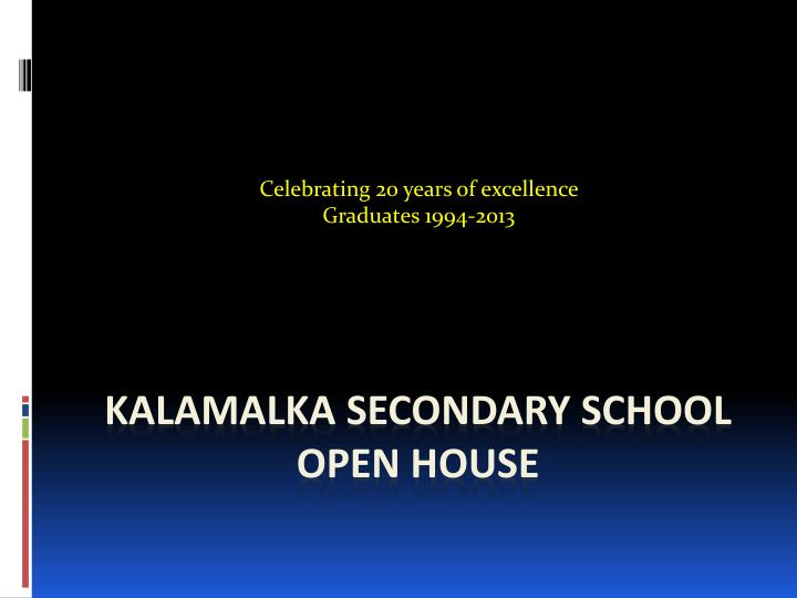 Celebrating 20 years of excellence graduates 1994 2013