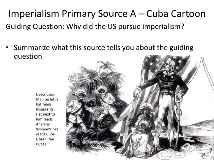 Imperialism primary source a cuba cartoon