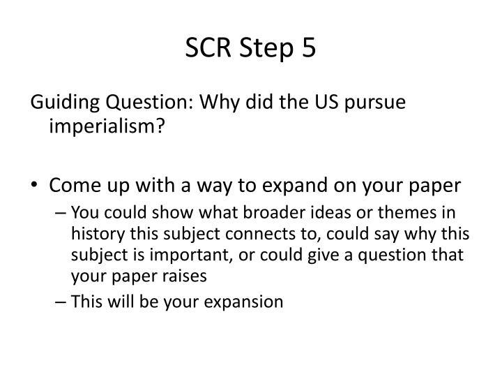 SCR Step 5