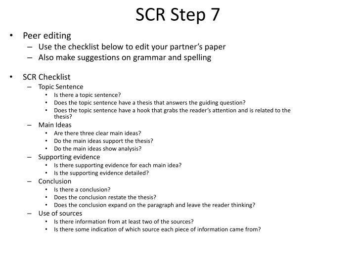 SCR Step 7