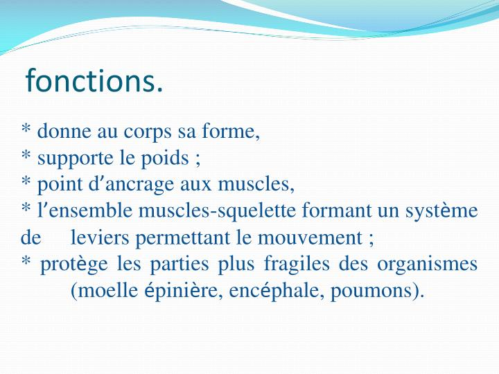 fonctions.
