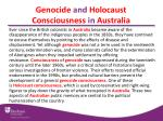 genocide and holocaust consciousness in australia