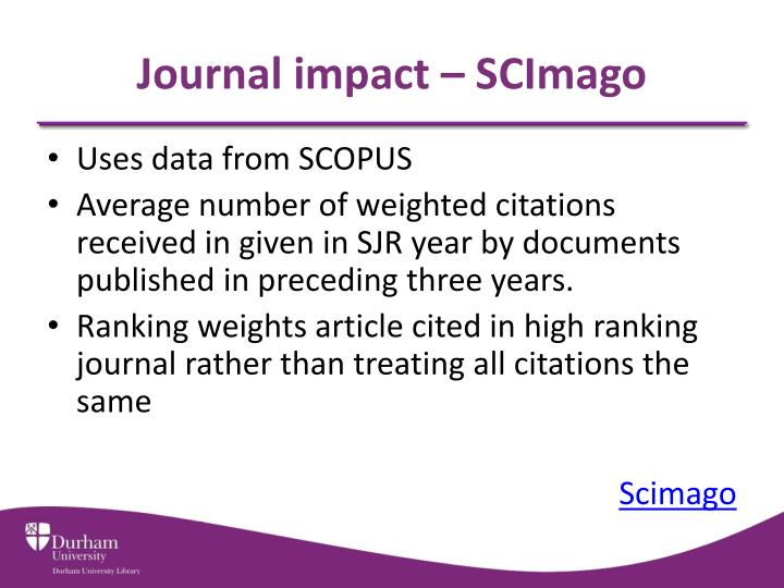 Journal impact – SCImago