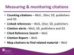 measuring monitoring citations