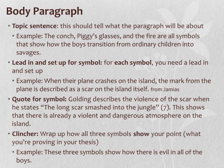 Body Paragraph