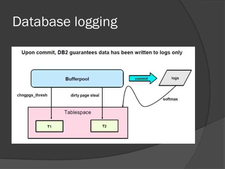 Database logging