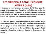 les principale conclusions de l atelier suite7