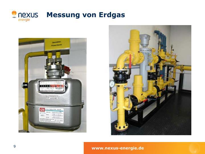 Messung von Erdgas