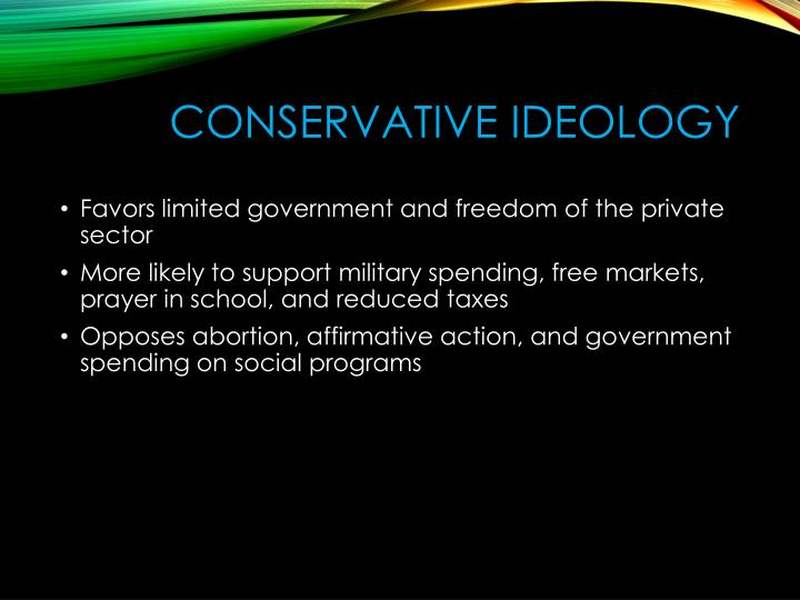 Conservative ideology