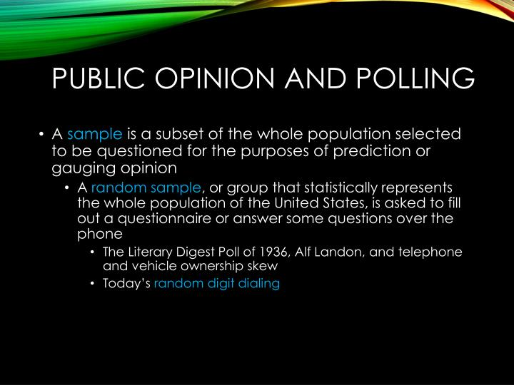Public opinion and polling1